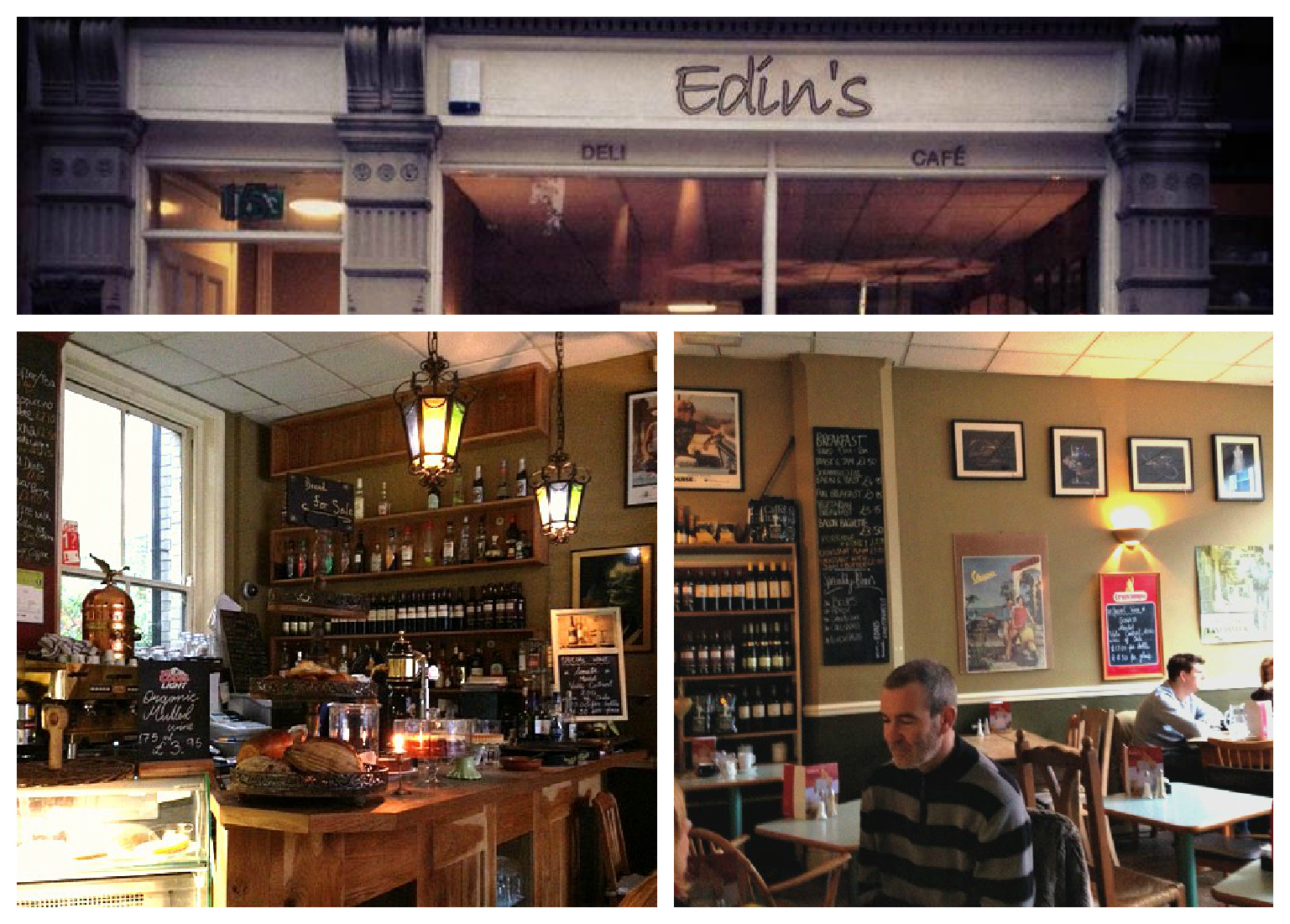 Edins Cafe Nottingham Menu
